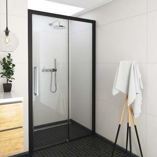 Sprchové dveře 130x205 cm pravá Roth Exclusive Line černá matná 565-130000P-05-02 černý elox