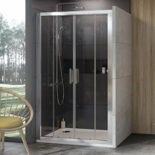 Sprchové dveře 140x190 cm Ravak 10° chrom matný 0ZKM0U00Z1 satin