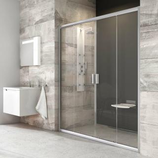 Sprchové dveře 140x190 cm Ravak Blix chrom matný 0YVM0U00Z1 chrom satin
