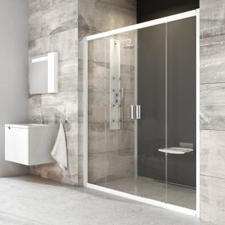 Sprchové dveře 150x190 cm Ravak Blix bílá 0YVP0100Z1 bílá bílá