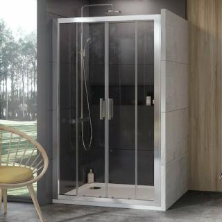 Sprchové dveře 190x190 cm Ravak 10° chrom matný 0ZKL0U00Z1 satin