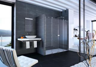 Sprchové dveře 240x200 cm Huppe Xtensa pure chrom lesklý XT1003.069.322 chrom chrom