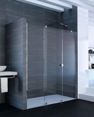Sprchové dveře 240x200 cm levá Huppe Xtensa pure chrom lesklý XT1105.069.322 chrom chrom
