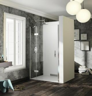 Sprchové dveře 80x200 cm levá Huppe Solva pure chrom lesklý ST0401.092.322 chrom chrom