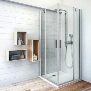 Sprchové dveře 80x201,9 cm Roth Tower Line chrom matný 724-8000000-01-02 stříbro