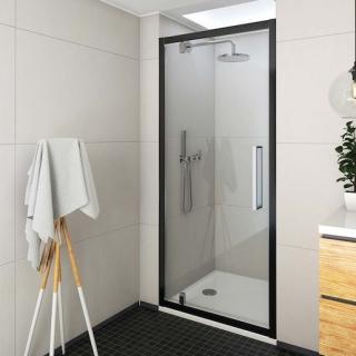 Sprchové dveře 80x205 cm Roth Exclusive Line černá matná 562-8000000-05-02 černý elox