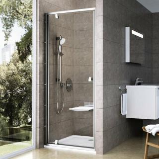 Sprchové dveře 90x190 cm Ravak Pivot chrom matný 03G70U00Z1 satin