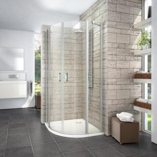 Sprchové dveře čtvrtkruh 90x90x195 cm Roth Limaya Line chrom lesklý 1135008267