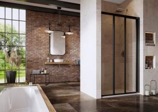 Sprchové dveře Walk-In / dveře 110 cm Ravak Supernova 00VD03R2Z1 Černá