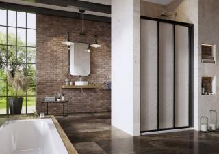 Sprchové dveře Walk-In / dveře 90 cm Ravak Supernova 00V703R211 Černá
