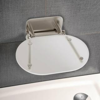 Sprchové sedátko Ravak Chrome Opal/Stainless B8F0000040 čirá