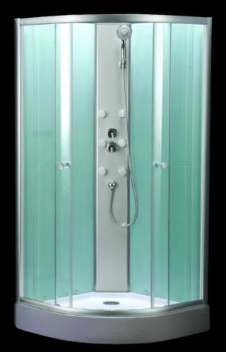 Sprchový box čtvrtkruh 90x90x200 cm Multi Mbox chrom lesklý MBOX