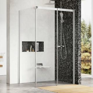 Sprchový kout 80x195 cm pravá Ravak Matrix chrom matný 0WPA4U00Z1 satin