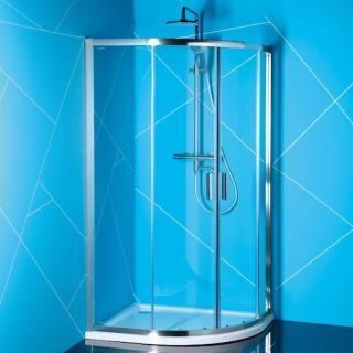 Sprchový kout asymetrický 90x80x200 cm Polysan EASY chrom lesklý EL2815