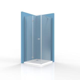 Sprchový kout čtverec 100x100 cm Swiss Aqua Technologies SK SIKOSK100STENSK100 chrom