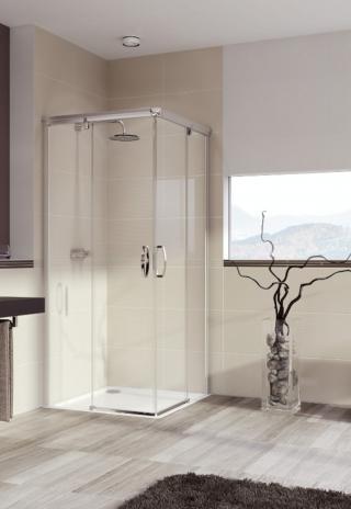 Sprchový kout čtverec 100x100x200 cm Huppe Aura elegance chrom matný 401310.087.322 satin