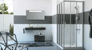 Sprchový kout čtverec 90x90x200 cm Huppe Classics 2 chrom lesklý C21105.069.322 chrom chrom