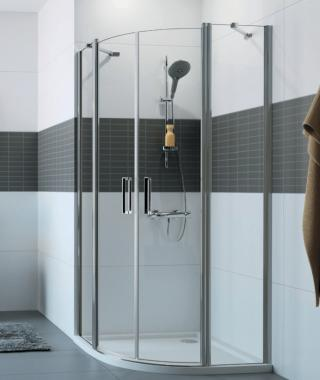Sprchový kout čtvrtkruh 100x200 cm Huppe Classics 2 chrom lesklý C24006.069.322 chrom chrom