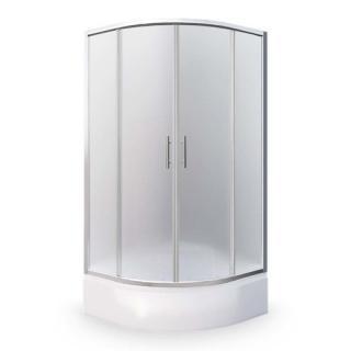 Sprchový kout čtvrtkruh 80x80x165 cm Roth Projektová řešení chrom lesklý N0656 Brillant