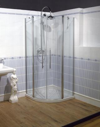 Sprchový kout čtvrtkruh 90x193 cm pravá Huppe Design Victorian chrom lesklý DV1302.092.339 chrom chrom