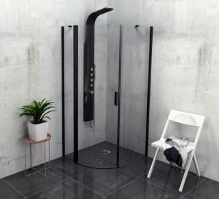 Sprchový kout čtvrtkruh 90x90x200 cm levá Polysan Zoom chrom lesklý ZL2615BL