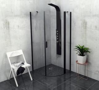 Sprchový kout čtvrtkruh 90x90x200 cm pravá Polysan Zoom chrom lesklý ZL2615BR