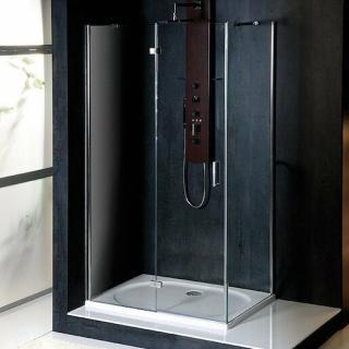 Sprchový kout obdélník 80x90x200 cm levá Polysan VITRA chrom lesklý BN8015L