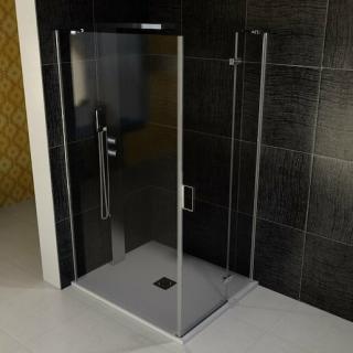 Sprchový kout obdélník 90x100x200 cm pravá Polysan VITRA chrom lesklý BN8615R
