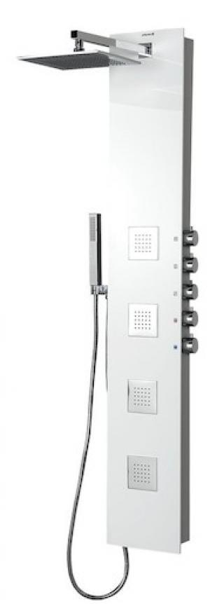 Sprchový panel Polysan na stěnu s pákovou baterií bílá/chrom 80216 ostatní bílá