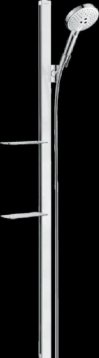 Sprchový set Hansgrohe Raindance Select S s poličkou bílá/chrom 27646400 chrom bílá