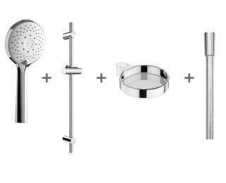Sprchový set Jika Cubito na stěnu s mýdlenkou chrom H3651X00044721 chrom chrom