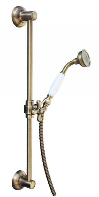 Sprchový set RAV SLEZÁK s držákem sprchy a sprchovou hadicí stará mosaz SK0031SM ostatní stará mosaz