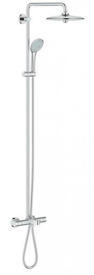 Sprchový systém Grohe EUPHORIA na stěnu s vanovým termostatem chrom 26177001 chrom chrom