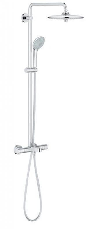 Sprchový systém Grohe Euphoria System s termostatickou baterií chrom 26114001 chrom chrom