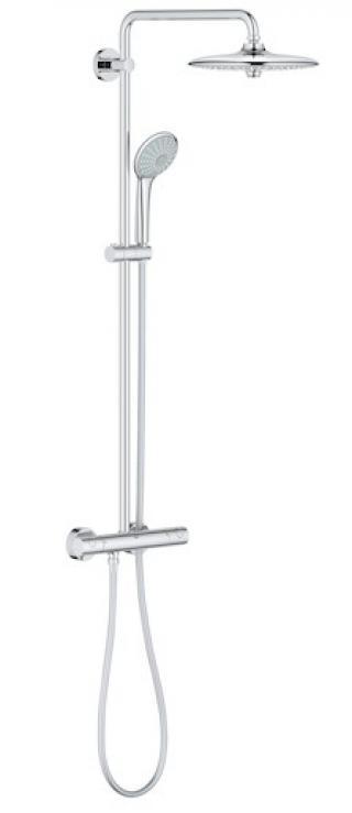 Sprchový systém Grohe Euphoria System s termostatickou baterií chrom 27296002 chrom chrom