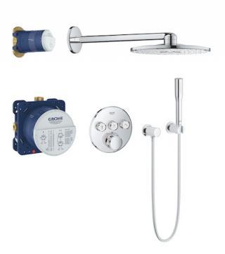 Sprchový systém Grohe Grohtherm SmartControl s termostatickou baterií chrom 34705000 chrom chrom