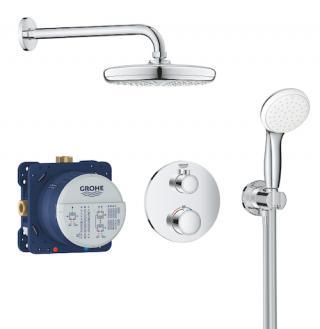 Sprchový systém Grohe Grohtherm včetně podomítkového tělesa chrom 34727000 chrom chrom