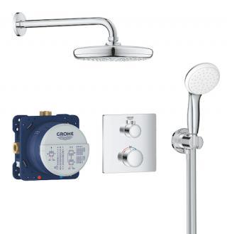 Sprchový systém Grohe Grohtherm včetně podomítkového tělesa chrom 34729000 chrom chrom