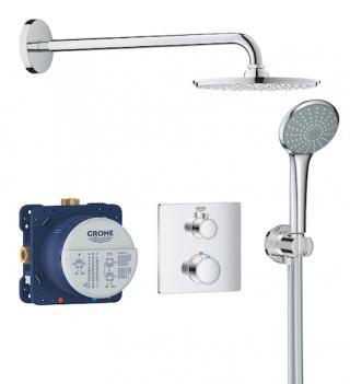 Sprchový systém Grohe Grohtherm včetně podomítkového tělesa chrom 34734000 chrom chrom