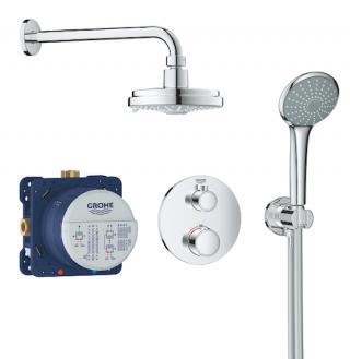 Sprchový systém Grohe Grohtherm včetně podomítkového tělesa chrom 34735000 chrom chrom