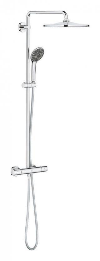 Sprchový systém Grohe Vitalio Joy na stěnu s termostatickou baterií chrom 26400001 chrom chrom