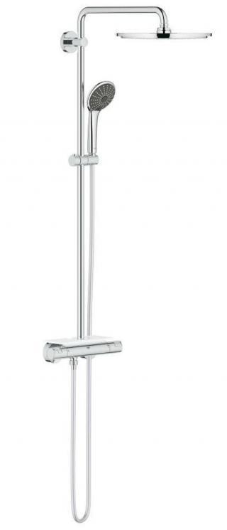 Sprchový systém Grohe Vitalio Joy na stěnu s termostatickou baterií chrom 26401000 chrom chrom