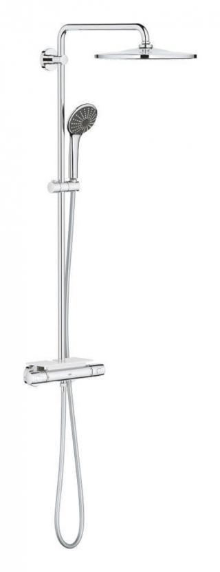 Sprchový systém Grohe Vitalio Joy na stěnu s termostatickou baterií chrom 26401001 chrom chrom