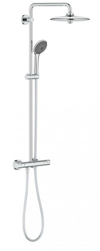 Sprchový systém Grohe Vitalio Joy na stěnu s termostatickou baterií chrom 27298002 chrom chrom