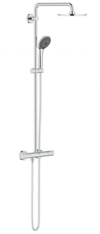 Sprchový systém Grohe Vitalio Joy na stěnu s termostatickou baterií chrom 27965000 chrom chrom