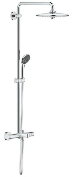 Sprchový systém Grohe Vitalio Joy na stěnu s vanovým termostatem chrom 27860001 chrom chrom