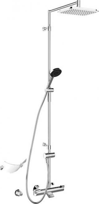 Sprchový systém Hansa FIT s vanovým termostatem chrom 65162101 chrom chrom