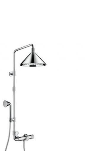 Sprchový systém Hansgrohe Axor Front s termostatickou baterií chrom 26020000 chrom chrom
