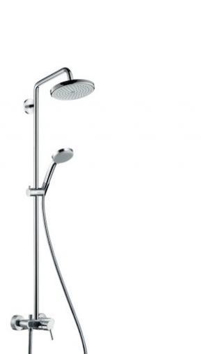 Sprchový systém Hansgrohe Croma na stěnu s pákovou baterií chrom 27222000 chrom chrom