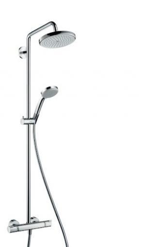 Sprchový systém Hansgrohe Croma na stěnu s termostatickou baterií chrom 27185000 chrom chrom